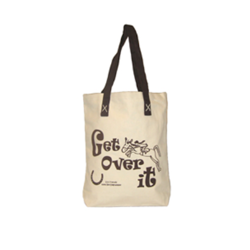 Shopper - Lærredspose med print - Get Over It