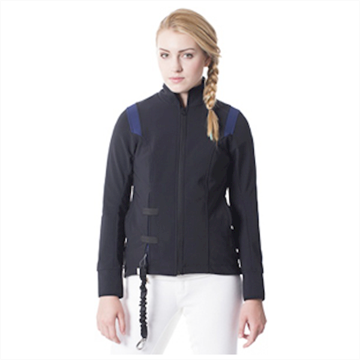 Helite softshell jakke m. airbag - Sort/Navy