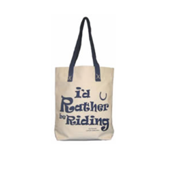 Lærredspose - I'd rather be riding - Shopper - Indkøbsnet
