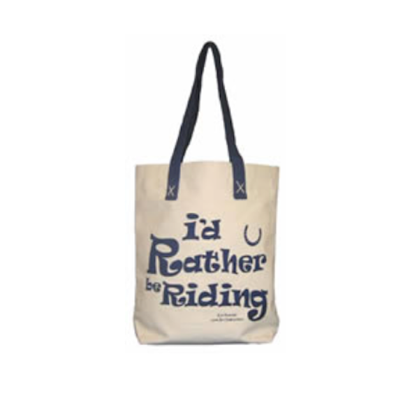 Lærredspose - I\'d rather be riding - Shopper - Indkøbsnet