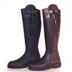 6e489fe16b4 Staldstøvler med neopren skaft > Vandtæt staldstøvle <