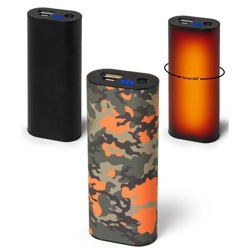 Nordic Heat Håndvarmer/powerbank - 5.000 mAh - Camuflage Orange eller sort